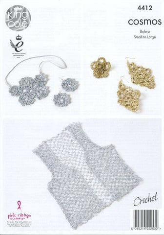 Bolero and Jewellery in King Cole Cosmos (4412)-Deramores