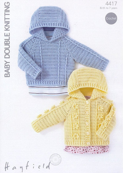 Hooded Sweater and Jacket in Hayfield Baby DK (4417)-Deramores