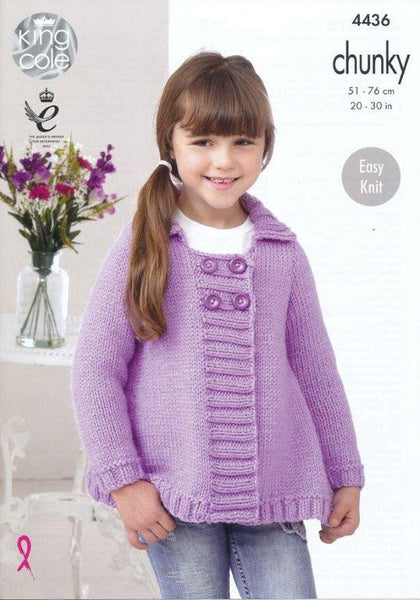 Jackets in King Cole Comfort Chunky (4436)-Deramores