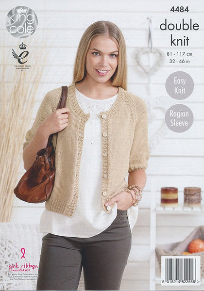 Cardigans in King Cole Bamboo Cotton DK (4484)-Deramores