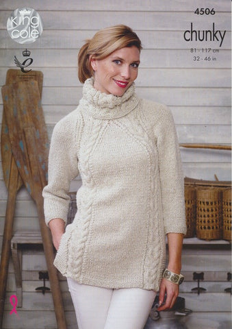 Tunic and Sweater in King Cole Authentic Chunky (4506)