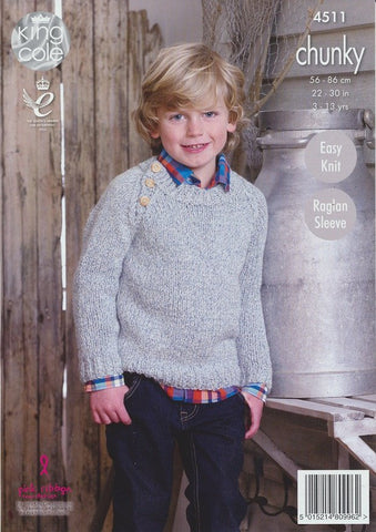 Tunic and Sweater in King Cole Authentic Chunky (4511)