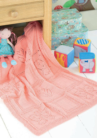 Butterfly and Motif Flower Blanket in Sirdar Snuggly DK (4528) - Digital Version-Deramores