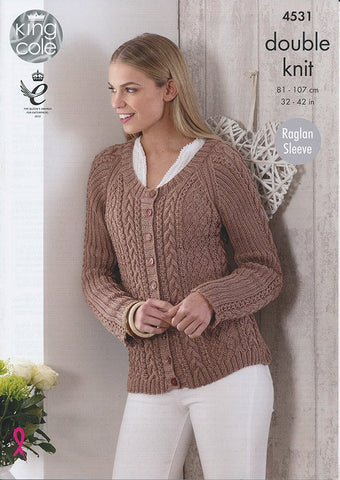Top and Cardigan in King Cole Giza Cotton DK (4531)