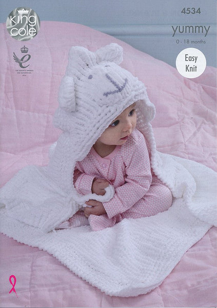 Cocoon and Blanket in King Cole Yummy (4534)-Deramores