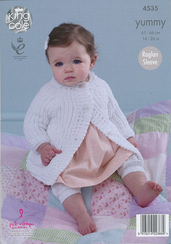 Babies Jackets in King Cole Yummy (4535)-Deramores
