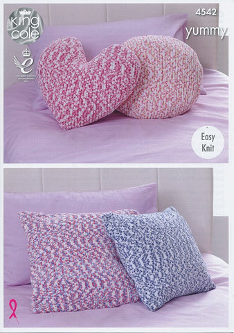 Cushions in King Cole Yummy (4542)-Deramores