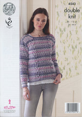 cardigan and sweater in king cole drifter (4543)