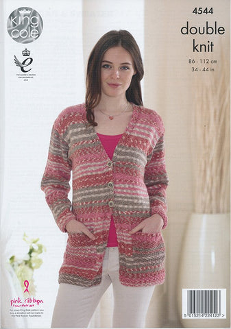 Cardigan and Sweater in King Cole Drifter (4544)-Deramores