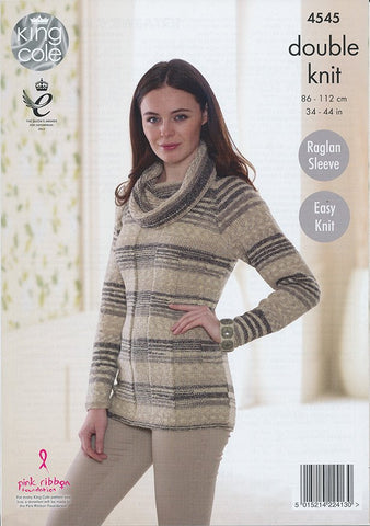 Cardigan and Sweater in King Cole Drifter (4545)-Deramores