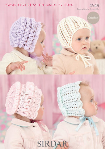 Bonnets in Sirdar Snuggly Pearls DK (4549)-Deramores