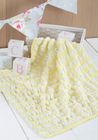 Blankets in Sirdar Snuggly Bubbly and Snuggly DK (4553) - Digital Version-Deramores