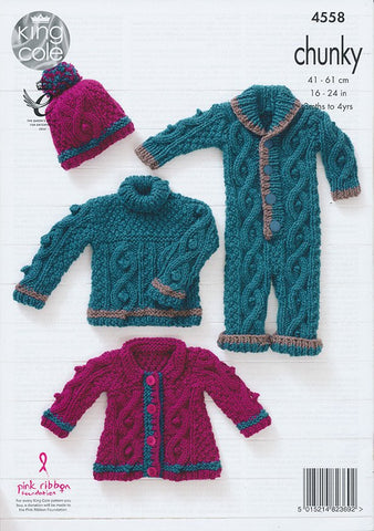 Baby Set in King Cole Comfort Chunky (4558)-Deramores