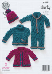 Baby Set in King Cole Comfort Chunky (4558)