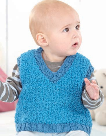 Boys V Neck Tank and Sweater in Sirdar Snowflake Chunky and Snuggly DK (4559) - Digital Version-Deramores
