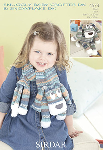Toy and Scarf in Sirdar Snuggly Baby Crofter DK & Snowflake DK (4573)