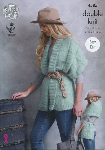 Wrap Ponchos in King Cole Embrace DK (4585)