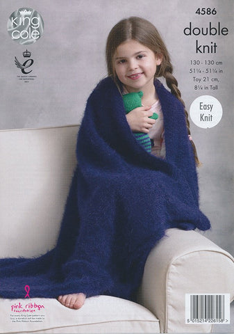 Blankets and Teddy in King Cole Embrace DK (4586)-Deramores