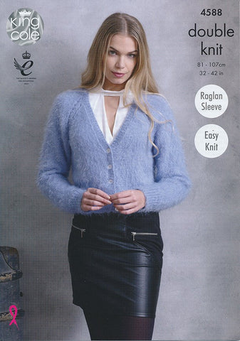 Cardigans in King Cole Embrace DK (4588)-Deramores