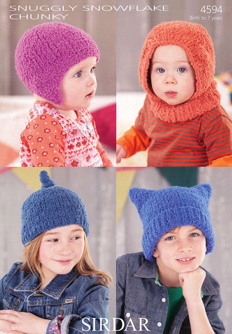 Helmet, Balaclava and Hats in Sirdar Snuggly Snowflake Chunky (4594)-Deramores