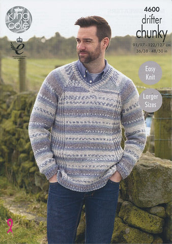 Mens Sweaters in King Cole Drifter Chunky (4600)