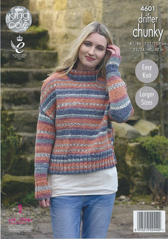 Ladies Sweaters in King Cole Drifter Chunky (4601)-Deramores