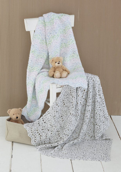 Crocheted Blankets in Snuggly Spots (4605)-Deramores