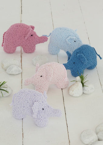 Elephant Toys in Sirdar Snuggly Bubbly (4607) - Digital Version-Deramores