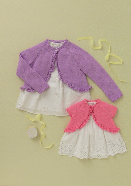 Babies and Girls Cardigans in Hayfield Baby Sparkle (4611)-Deramores