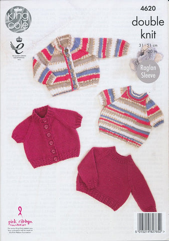 Cardigans and Sweaters in King Cole Comfort and Comfort Prints DK (4620)-Deramores
