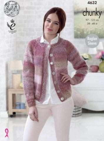Mans Sweater and Lady's Cardigan in King Cole Cotswold Chunky (4632)