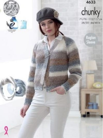 Cardigan and Sweater in King Cole Cotswold Chunky (4633)-Deramores