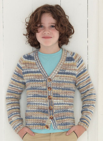 Babies and Boys Cardigans in Sirdar Snuggly Baby Crofter DK (4634)