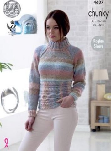 Sweater and Cardigan in King Cole Cotswold Chunky (4637)