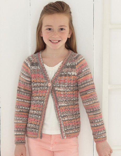 Babies and Girls Cardigans in Sirdar Snuggly Baby Crofter DK (4637)