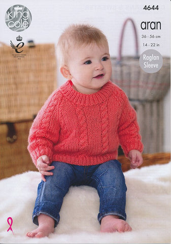 Cardigans and Sweater in King Cole Comfort Aran (4644)-Deramores