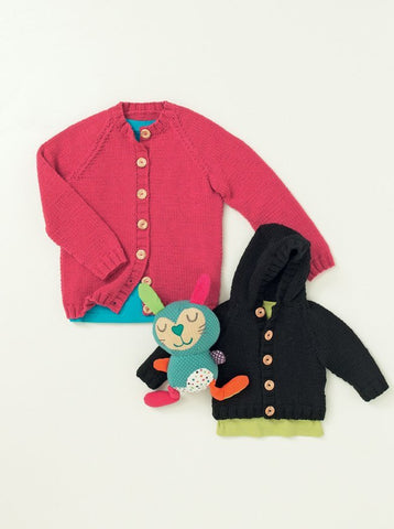 Babies and Childrens Cardigans in Hayfield Baby Aran (4644)-Deramores