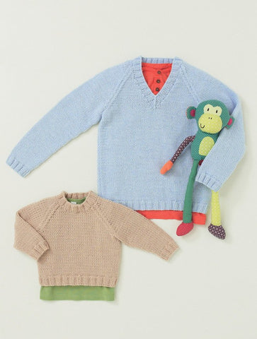 Babies and Childrens Sweaters in Hayfield Baby Aran (4645) - Digital Version-Deramores