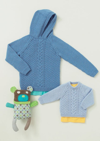 Babies and Childrens Cable Sweaters in Hayfield Baby Aran (4647)-Deramores