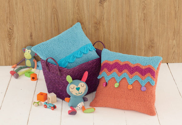Blankets and Cushion Covers in Sirdar Snuggly Snowflake Chunky and Snuggly DK (4651)-Deramores