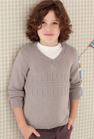 Babies and Boys V Neck Sweater and Tank in Sirdar Snuggly DK (4655)-Deramores