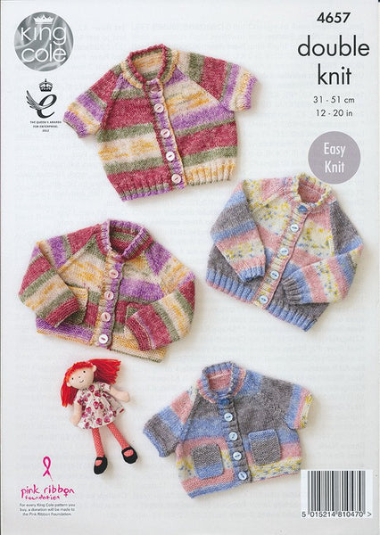 Cardigans in King Cole Splash DK (4657)-Deramores