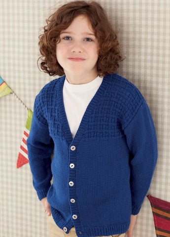 Babies and Boys V Neck Cardigans in Sirdar Snuggly DK (4657)-Deramores