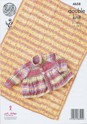 Jacket and Blanket in King Cole Splash DK (4658)-Deramores