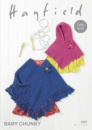 Ponchos in Hayfield Baby Chunky (4685)