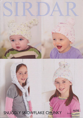 Hats in Sirdar Snuggly Snowflake Chunky (4698)-Deramores