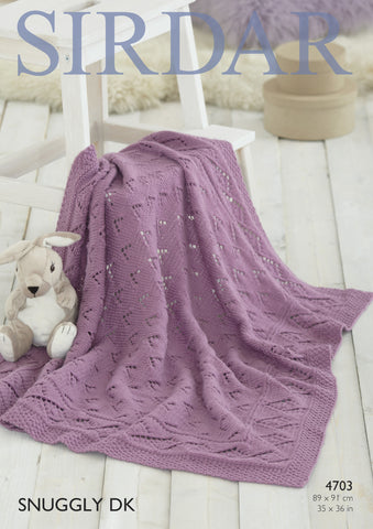 Blanket in Sirdar Snuggly DK (4703P) - Digital Version