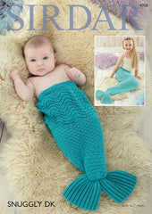 Mermaid Tail Snugglers in Sirdar Snuggly DK (4708)