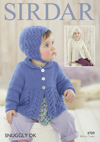 Cardigans and Hats in Sirdar Snuggly DK (4709P) - Digital Version