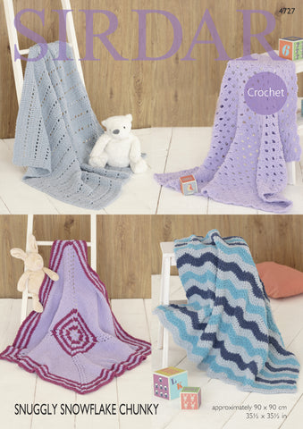 Blankets in Sirdar Snuggly Snowflake Chunky (4727) Digital Version
